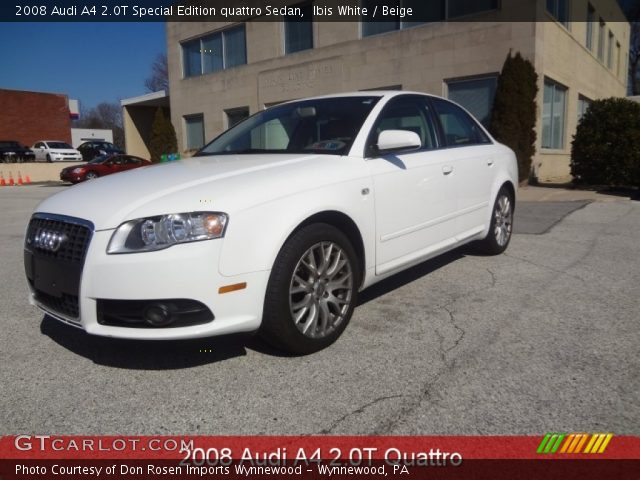 ibis white 2008 audi a4 2 0t special edition quattro. Black Bedroom Furniture Sets. Home Design Ideas