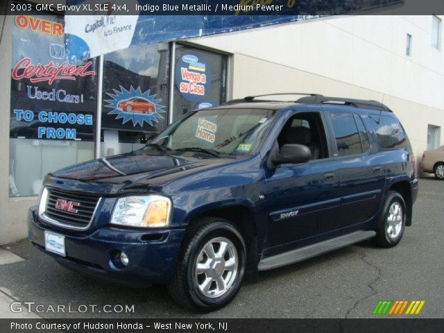 indigo blue metallic 2003 gmc envoy xl sle 4x4 medium. Black Bedroom Furniture Sets. Home Design Ideas