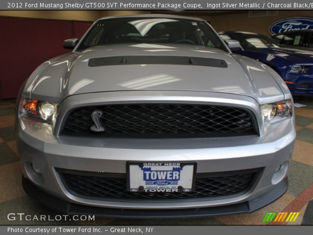 Ingot silver metallic 2012 ford mustang shelby gt500 svt performance package coupe charcoal