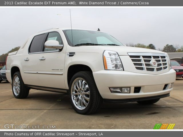 white diamond tricoat 2013 cadillac escalade ext premium. Black Bedroom Furniture Sets. Home Design Ideas