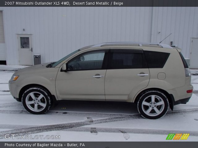 desert sand metallic 2007 mitsubishi outlander xls 4wd. Black Bedroom Furniture Sets. Home Design Ideas