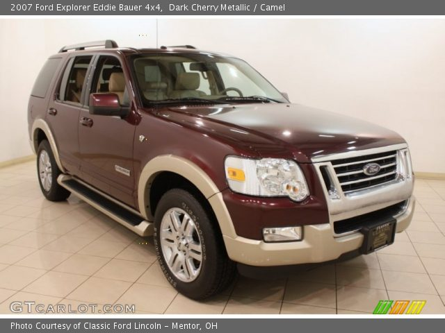 dark cherry metallic 2007 ford explorer eddie bauer 4x4 camel interior. Black Bedroom Furniture Sets. Home Design Ideas
