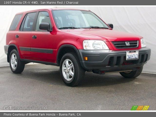 San Marino Red 1997 Honda Cr V 4wd Charcoal Interior Vehicle Archive 78763972