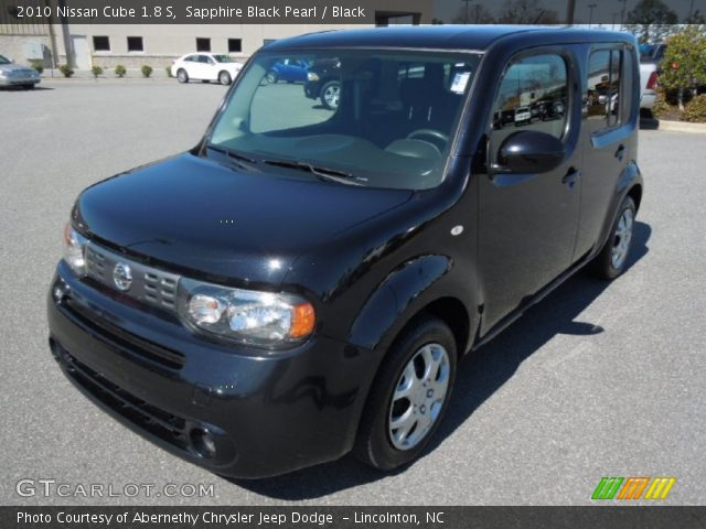 sapphire black pearl 2010 nissan cube 1 8 s black interior vehicle archive. Black Bedroom Furniture Sets. Home Design Ideas