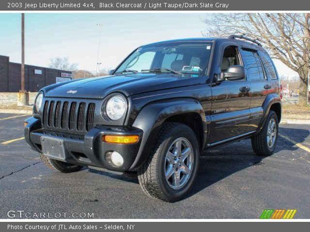 Black Clearcoat 2003 Jeep Liberty Limited 4x4 Light Taupe Dark Slate Gray Interior