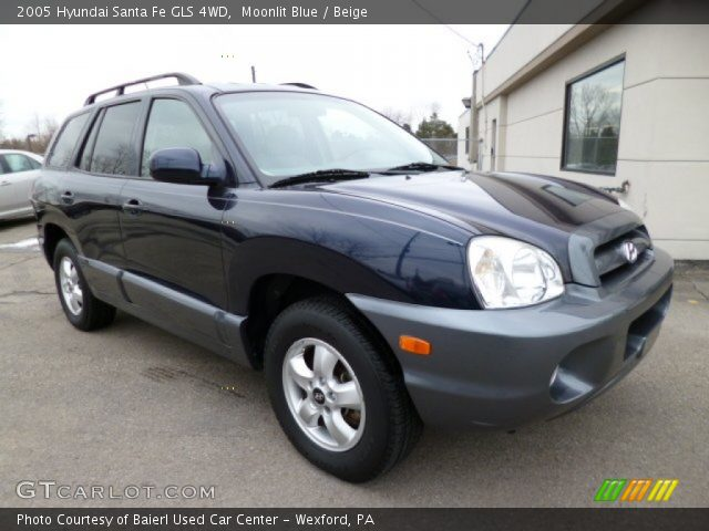 moonlit blue 2005 hyundai santa fe gls 4wd beige interior vehicle archive. Black Bedroom Furniture Sets. Home Design Ideas