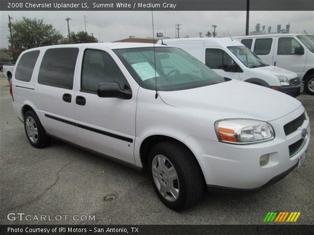 Summit White 2008 Chevrolet Uplander Ls Medium Gray Interior Vehicle