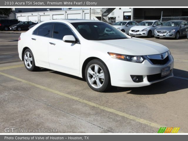 premium white pearl 2010 acura tsx sedan ebony. Black Bedroom Furniture Sets. Home Design Ideas