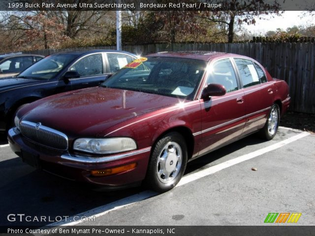 bordeaux red pearl 1999 buick park avenue ultra supercharged taupe interior. Black Bedroom Furniture Sets. Home Design Ideas
