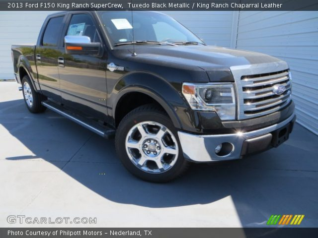 tuxedo black metallic 2013 ford f150 king ranch supercrew king ranch chaparral leather. Black Bedroom Furniture Sets. Home Design Ideas