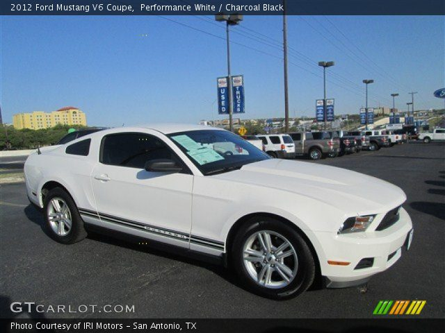 performance white 2012 ford mustang v6 coupe charcoal black interior. Black Bedroom Furniture Sets. Home Design Ideas