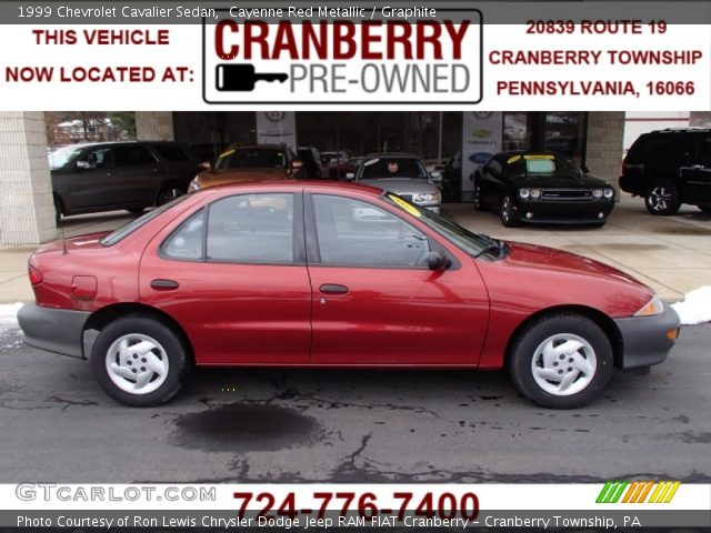 cayenne red metallic 1999 chevrolet cavalier sedan. Black Bedroom Furniture Sets. Home Design Ideas