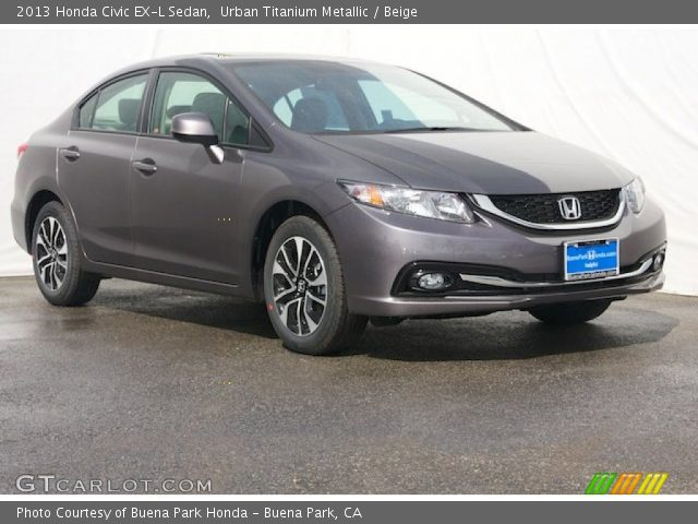 urban titanium metallic 2013 honda civic ex l sedan. Black Bedroom Furniture Sets. Home Design Ideas