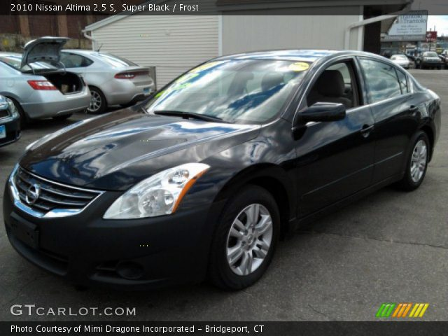 Super Black 2010 Nissan Altima 2 5 S Frost Interior Vehicle Archive 78939881