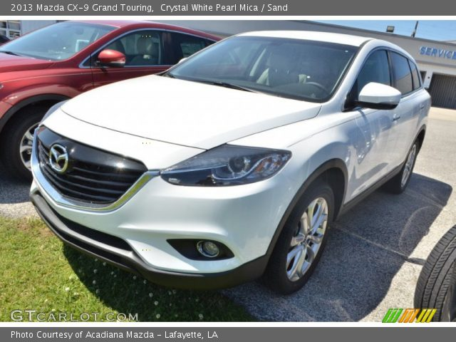 crystal white pearl mica 2013 mazda cx 9 grand touring. Black Bedroom Furniture Sets. Home Design Ideas