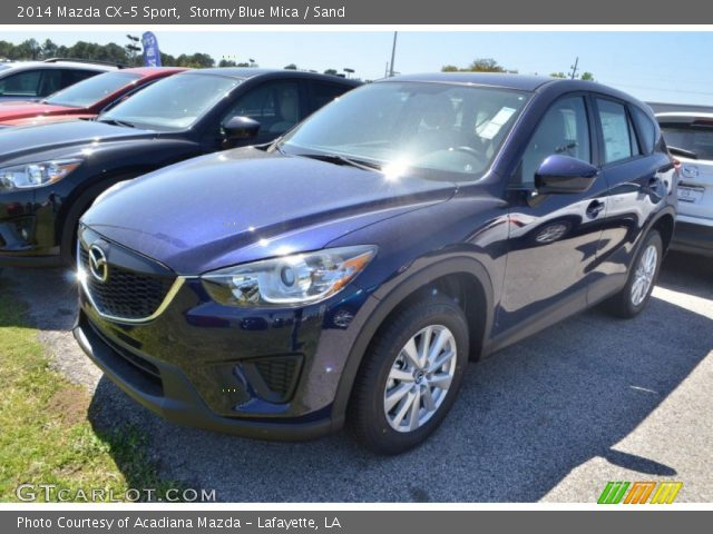 stormy blue mica 2014 mazda cx 5 sport sand interior vehicle archive 78940102. Black Bedroom Furniture Sets. Home Design Ideas