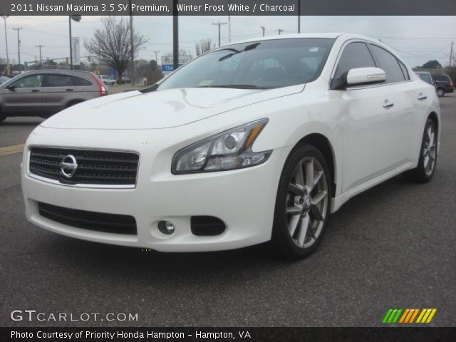 winter frost white 2011 nissan maxima 3 5 sv premium charcoal interior. Black Bedroom Furniture Sets. Home Design Ideas