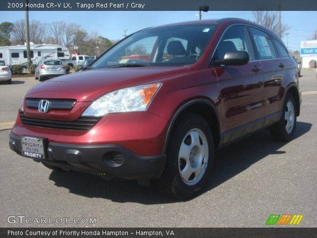 tango red pearl 2009 honda cr v lx gray interior vehicle archive 78997138. Black Bedroom Furniture Sets. Home Design Ideas