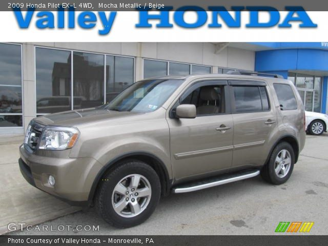 Mocha Metallic 2009 Honda Pilot Ex L 4wd Beige Interior Vehicle Archive