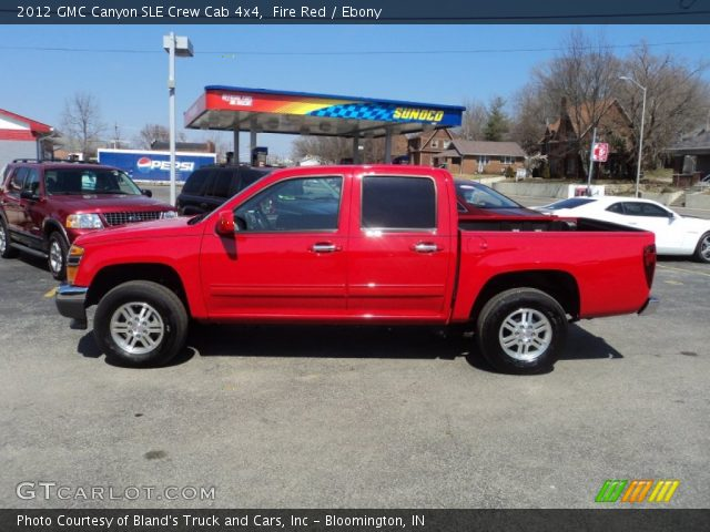 fire red 2012 gmc canyon sle crew cab 4x4 ebony interior vehicle archive. Black Bedroom Furniture Sets. Home Design Ideas