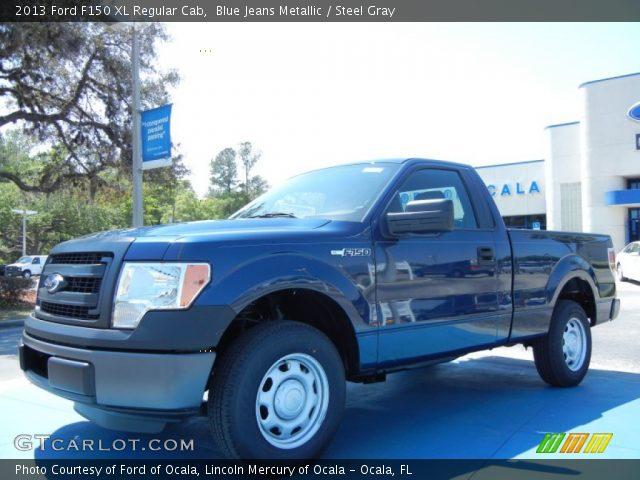 blue jeans metallic 2013 ford f150 xl regular cab steel gray interior. Black Bedroom Furniture Sets. Home Design Ideas