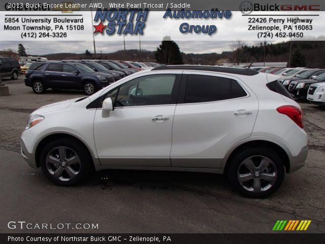 White Pearl Tricoat 2013 Buick Encore Leather With Saddle