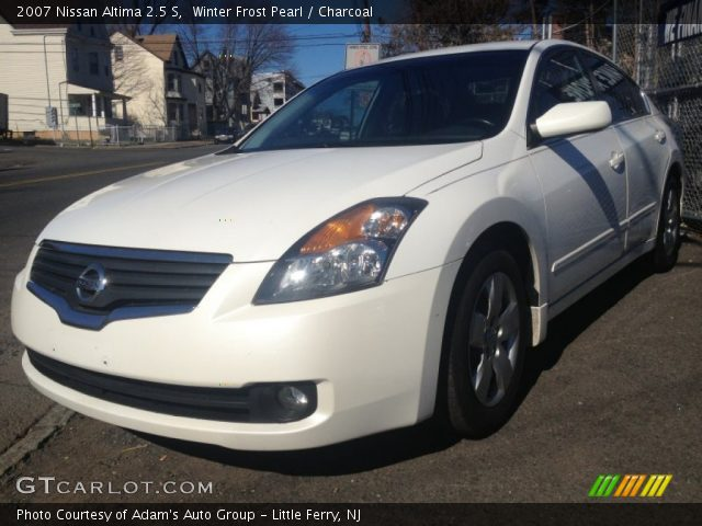 Winter Frost Pearl 2007 Nissan Altima 2 5 S Charcoal Interior Vehicle