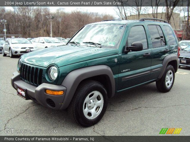 cactus green pearl 2004 jeep liberty sport 4x4 dark