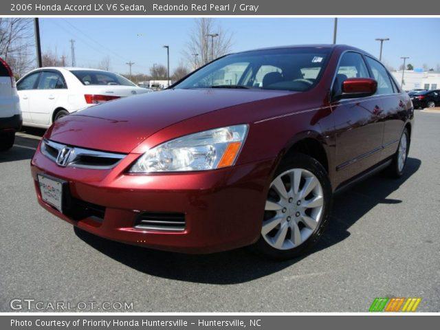 redondo red pearl 2006 honda accord lx v6 sedan gray interior vehicle. Black Bedroom Furniture Sets. Home Design Ideas