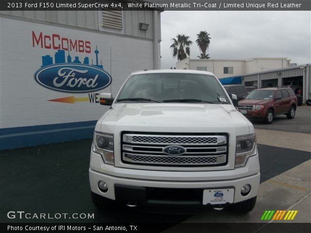 2013 Ford F150 Limited SuperCrew 4x4 in White Platinum Metallic Tri-Coat