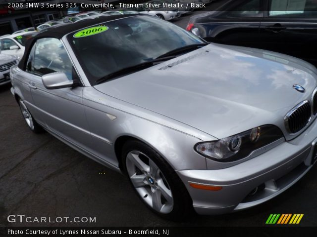 2006 BMW 3 Series 325i Convertible in Titanium Silver Metallic