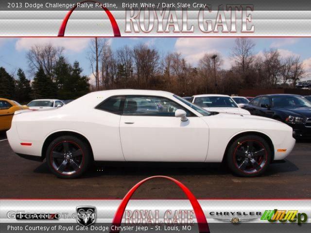 Bright White 2013 Dodge Challenger Rallye Redline Dark Slate Gray Interior
