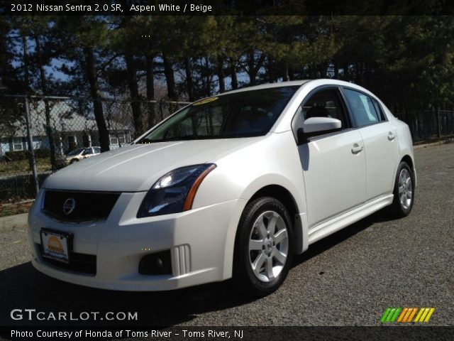 aspen white 2012 nissan sentra 2 0 sr beige interior. Black Bedroom Furniture Sets. Home Design Ideas