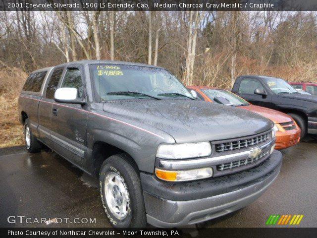 2001 Chevrolet Silverado 1500 LS Extended Cab in Medium Charcoal Gray Metallic