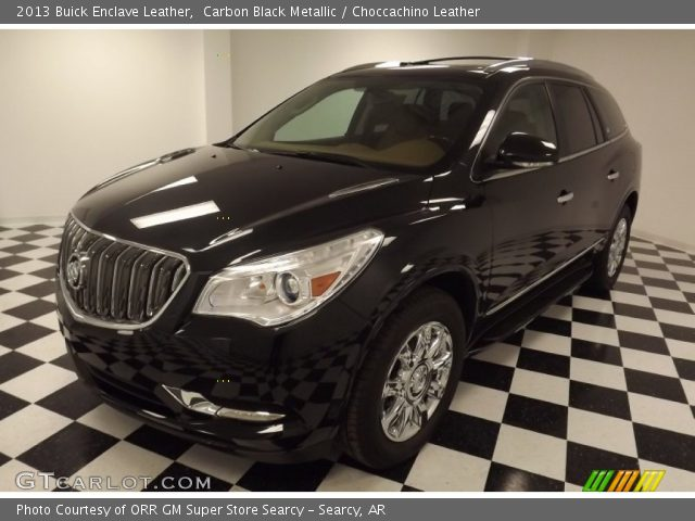 Carbon Black Metallic 2013 Buick Enclave Leather Choccachino Leather Interior