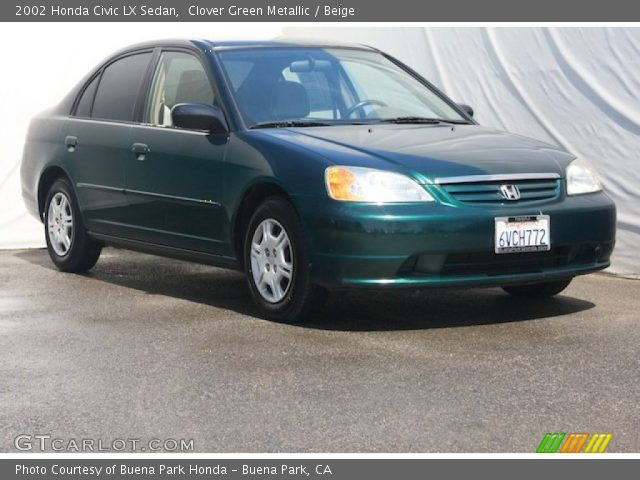 Green 2002 Honda Civic