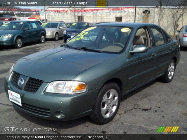 jaded green 2005 nissan sentra 1 8 s taupe interior. Black Bedroom Furniture Sets. Home Design Ideas