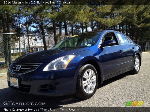 navy blue 2010 nissan altima 2 5 sl charcoal interior vehicle archive 79200803. Black Bedroom Furniture Sets. Home Design Ideas