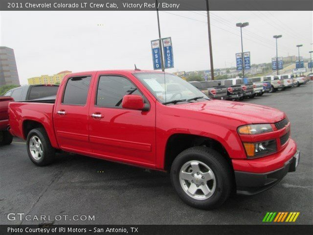 victory red 2011 chevrolet colorado lt crew cab ebony. Black Bedroom Furniture Sets. Home Design Ideas