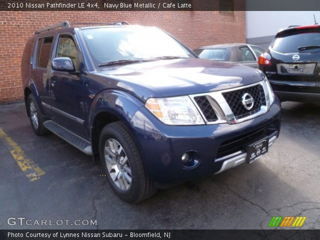 navy blue metallic 2010 nissan pathfinder le 4x4 cafe. Black Bedroom Furniture Sets. Home Design Ideas