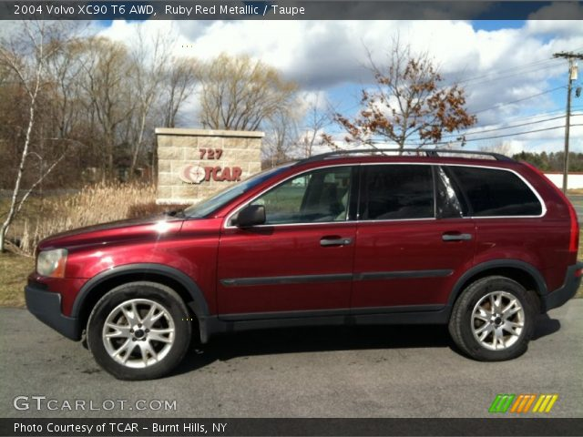 ruby red metallic 2004 volvo xc90 t6 awd taupe interior vehicle archive. Black Bedroom Furniture Sets. Home Design Ideas