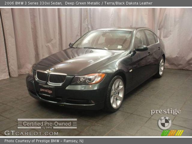 deep green metallic 2006 bmw 3 series 330xi sedan terra black dakota leather interior. Black Bedroom Furniture Sets. Home Design Ideas