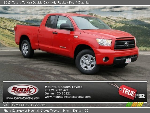 radiant red 2013 toyota tundra double cab 4x4 graphite interior vehicle. Black Bedroom Furniture Sets. Home Design Ideas