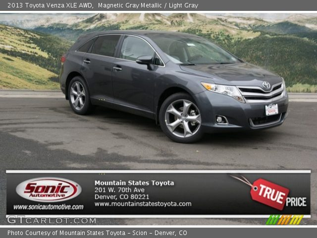 magnetic gray metallic 2013 toyota venza xle awd light. Black Bedroom Furniture Sets. Home Design Ideas
