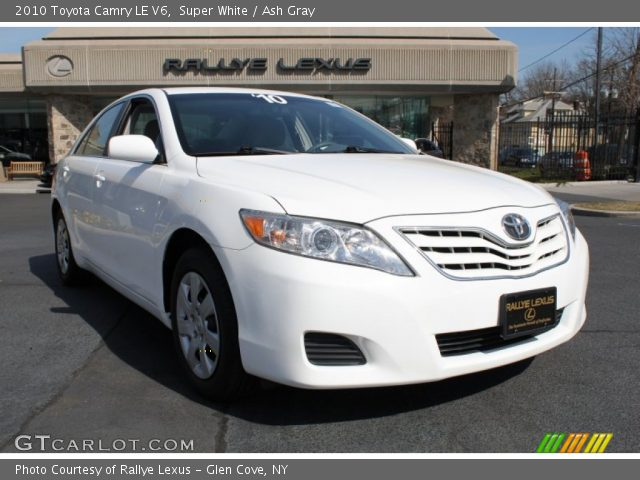 super white 2010 toyota camry le v6 ash gray interior vehicle archive 79320393. Black Bedroom Furniture Sets. Home Design Ideas