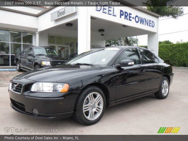 black sapphire metallic 2007 volvo s60 2 5t taupe light taupe interior. Black Bedroom Furniture Sets. Home Design Ideas
