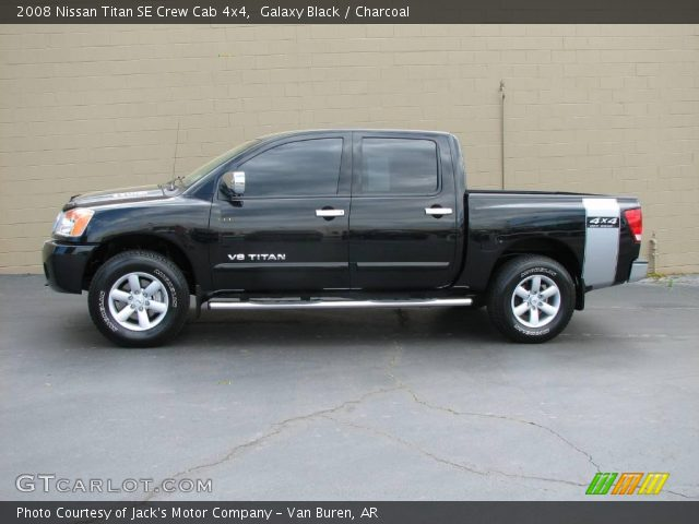 galaxy black 2008 nissan titan se crew cab 4x4 charcoal interior vehicle. Black Bedroom Furniture Sets. Home Design Ideas