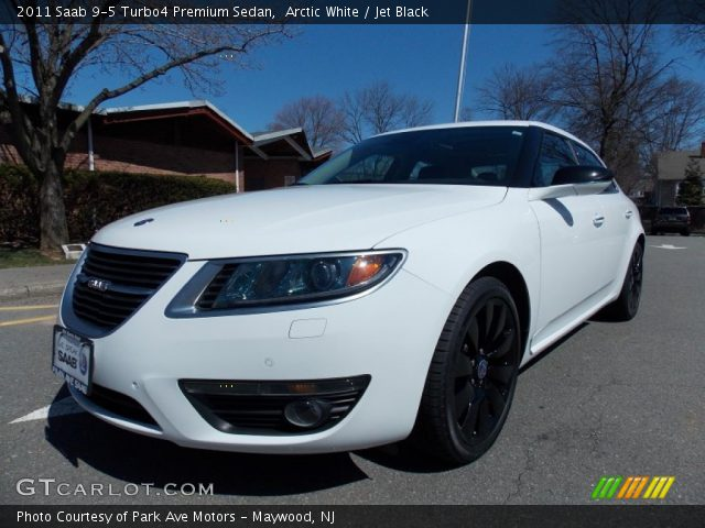 arctic white 2011 saab 9 5 turbo4 premium sedan jet. Black Bedroom Furniture Sets. Home Design Ideas