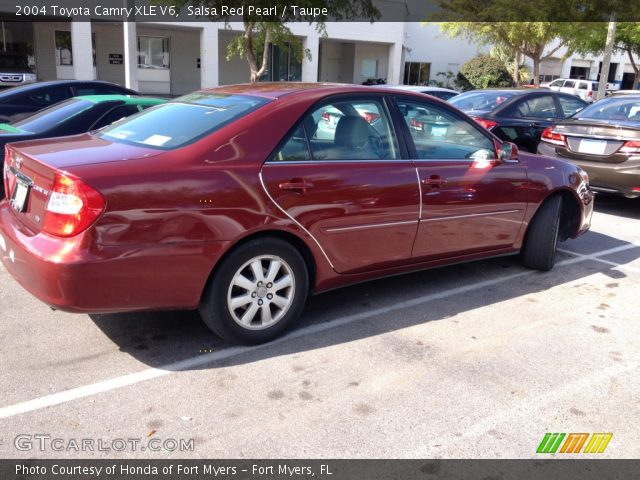 salsa red pearl 2004 toyota camry xle v6 taupe interior vehicle archive. Black Bedroom Furniture Sets. Home Design Ideas