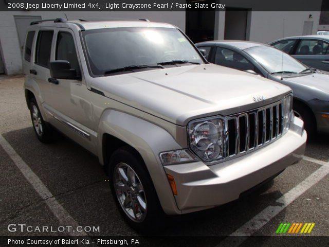 Light Graystone Pearl 2008 Jeep Liberty Limited 4x4 Pastel Slate Gray Interior Gtcarlot